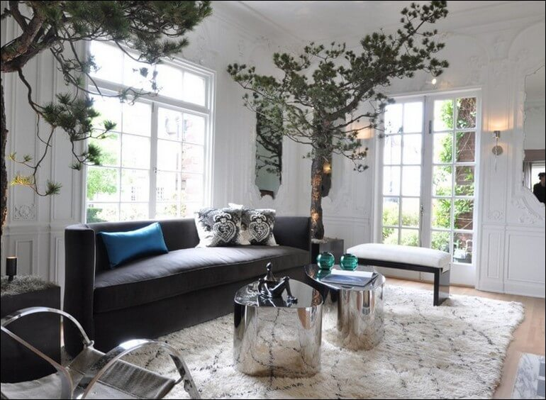 Fresh Contemporary Planters In The Living Room BENEFIT And - Contemporary planters living room