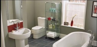 free stand tub and curved basin tub
