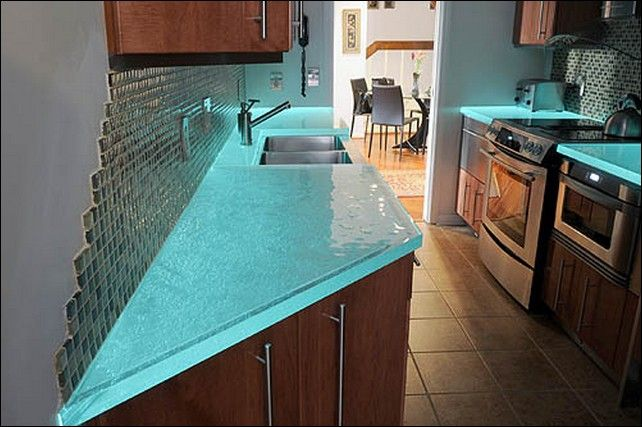 recycled glass countertop by bioglass