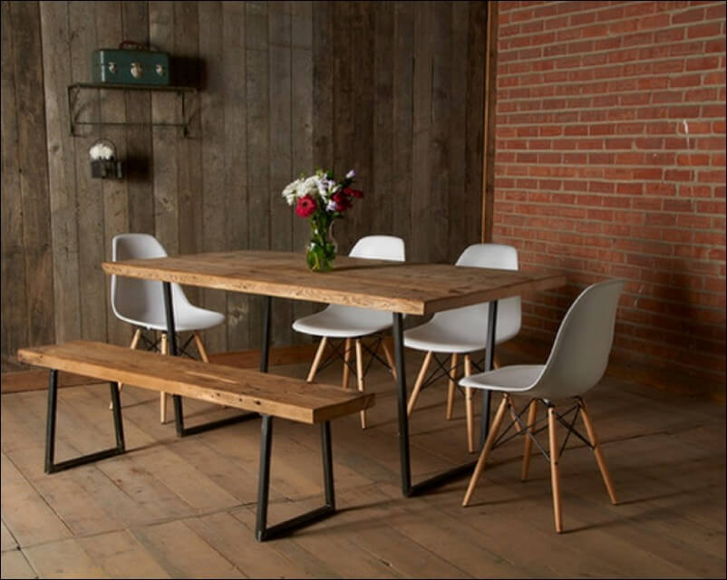 Reclaimed Wood Dining Table Image