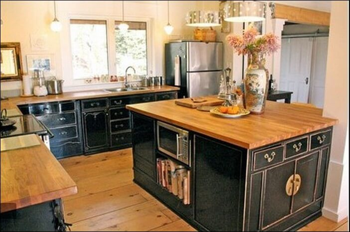 Recycled kitchen cabinet