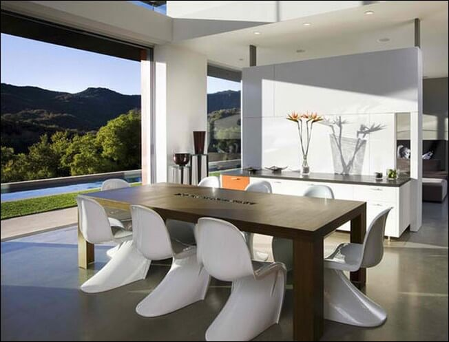 natural modern dining room