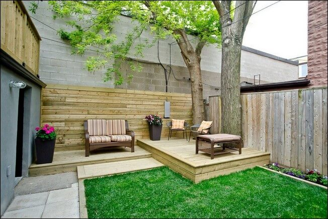 small patio deck