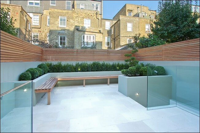 neat and modern small patio